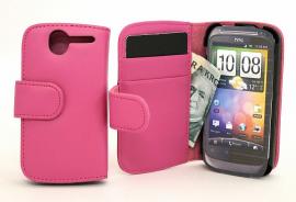 billigamobilskydd.sePlånboksfodral HTC Desire, Hotpink