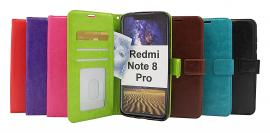 billigamobilskydd.seCrazy Horse Wallet Xiaomi Redmi Note 8 Pro