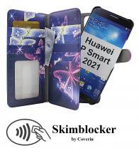 CoverInSkimblocker XL Magnet Designwallet Huawei P Smart 2021