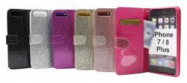 billigamobilskydd.seStandcase Glitter Wallet iPhone 7 Plus / 8 Plus