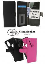 CoverInSkimblocker Magnet Fodral Motorola One Vision