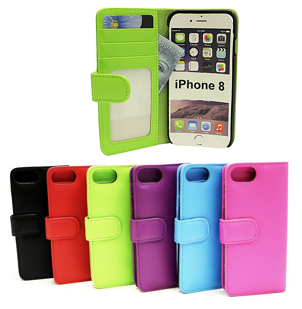Plånboksfodral iPhone 8 - Billigamobilskydd.se 460555dcdb841